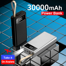 New 30000mAh Power Bank External Battery Pack Portable Mobile Phone Charger Powerbank For Xiaomi MI iPhone Note8 Huawei P30 Pro