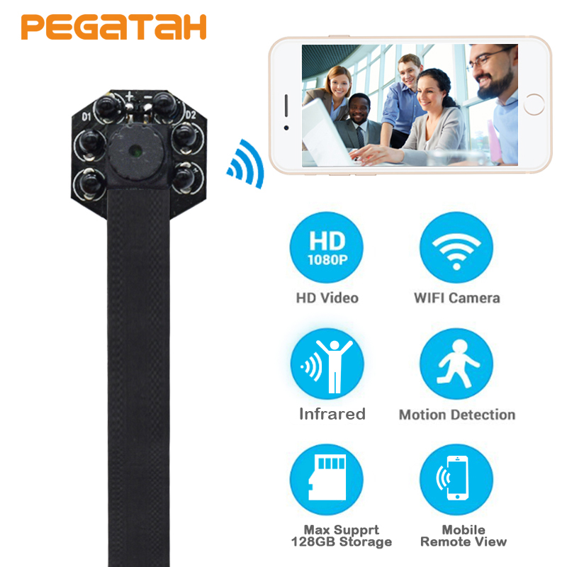 New 1080P Mini Wifi Camera P2P 128G TF Card slot Security Camera with IR Sound Video Recording Motion Detection