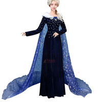 Athemis Adventure Elsa Cosplay Costume Princess Fancy Dress Sequined Outfit Snow Adult custom made High Quality