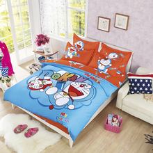 popular children doraemon bedding set duvet cover bed sheet pillow cases queen full single XL 3/4pcs