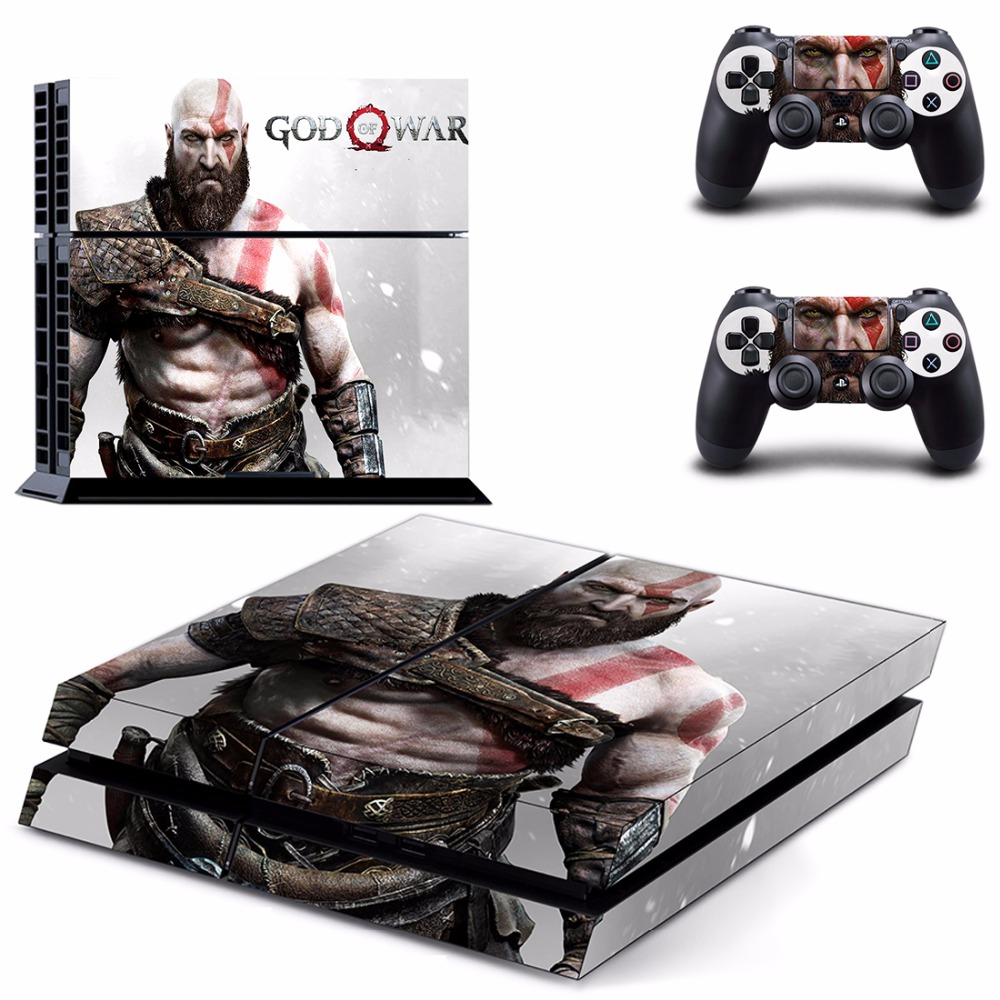 God of WAR PS4 Full Skin Sticker Faceplates for Sony playstation 4 Console and Controller image