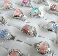 100 шт aboone оболочка посеребренные кольца для женщин Мода