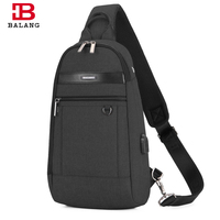BALANG Brand Men Chest Pack For 9 7 Inch Ipad Waterproof Oxford Crossbody Bag Fashion Shoulder