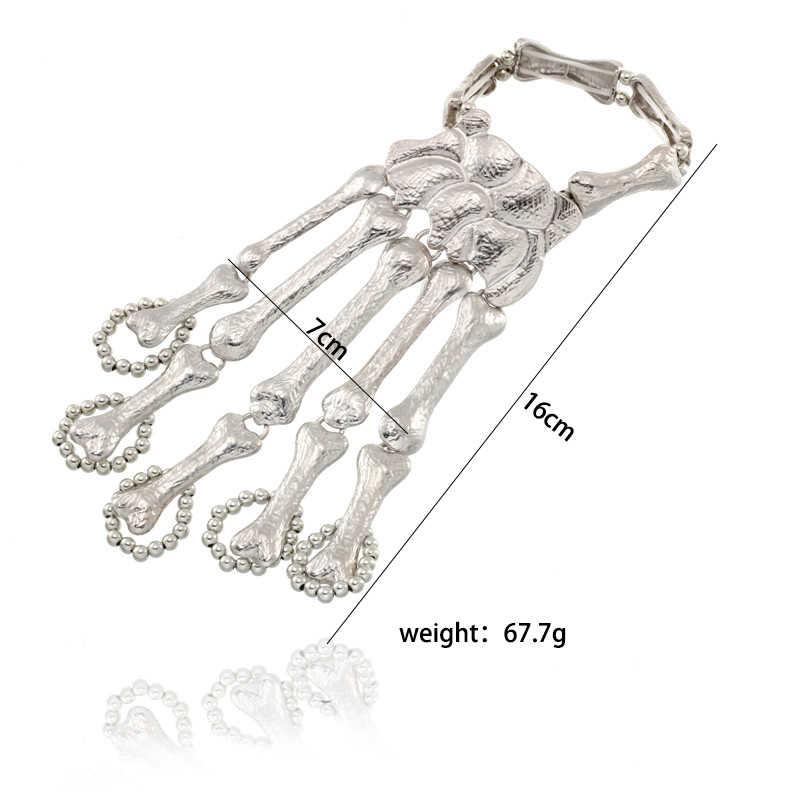 Панк браслеты с подвесками для женщин совместное мужские металлические браслеты стимпанк Серебряный браслет ювелирные подарок Прямая доставка