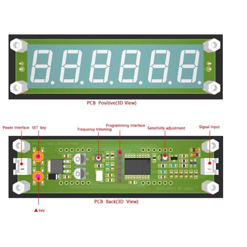ANENG LED Rouge 6 Chiffres 0.1 MHz-65 MHz Compteur de Fréquence Numérique Cymometer Testeur Compteur