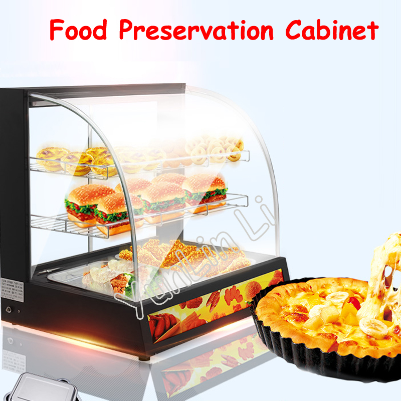 цена Food Heat Preservation Cabinet Commercial Food Warmer Cooked Food And Pastries Long Lasting Heat Preservation Showcase