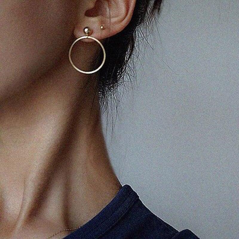 Новинка! Ювелирные изделия цвет золотистый геометрический Круглый с крупными бусами серьги-гвоздики ASOS лучший подарок для девушки женщин оптовая продажа E306