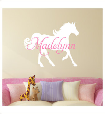 horse nursery room wall stickers custom name vinyl wall decals