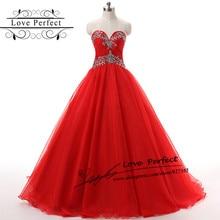 Red Organza Quinceanera Dress A Line Floor Length Long  Vestidos De Quince Anos 2016 Quinceanera Gowns Quinceanera Dresses 2016