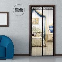 100X210cm Magic Mesh Summer Hand Free Screen Net Magnets Anti Mosquito Bug Door Curtain