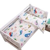 3pcs Baby Bedding Set Cotton Baby Bedclothes Cartoon Crib Bedding Set IncludeDuvet Cover Mattress Cover Pillowcase