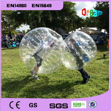 1.0mm Dia 1.5m Inflatable clear human  hamster ball/soccer bubble ball/bumper ballzorb ball for football