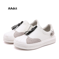 AAdct 2019 Genuine leather kids shoes new fashion casual sports boys shoes sneakers Brand casual children shoes for girls