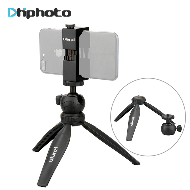 Ulanzi Mini Tripod for Phone,Compact Travel Tripod with Detachable Ballhead, Selfie Stick for iPhone Samsung Canon Nikon GoPro 5