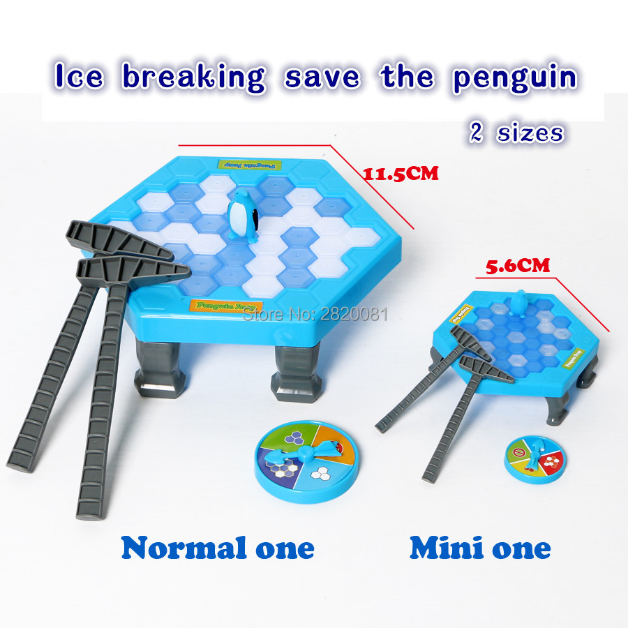 Ice Breaking Save The Penguin Classical Toy Set 2 Style Mini/normal Set,interested Game Family Children Funny Game Knock Penguin