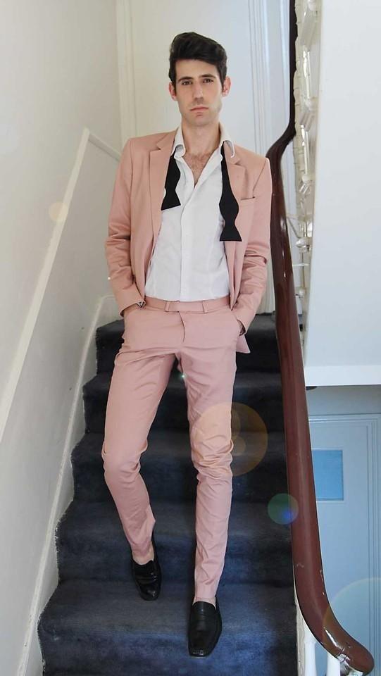 2017 Latest Coat Pant Designs Hot Pink Beach Men Suit Slim Fit 2 Piece Groom Tuxedo Custom Blazer Terno Masculino Jacket+Pant B5
