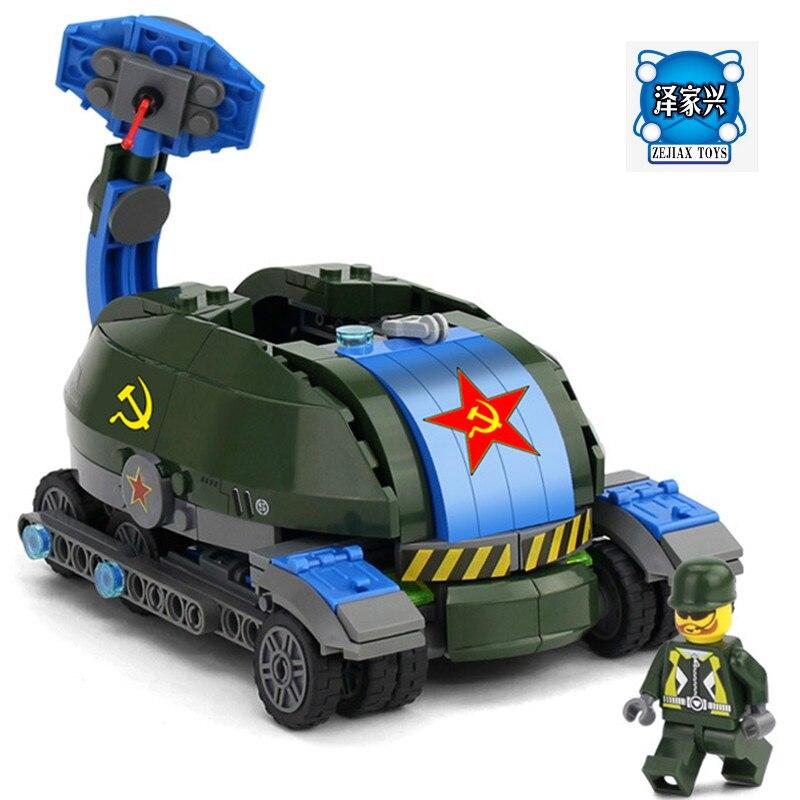 KAZI 367Pcs Building Blocks Toys Soviet Base Car Playmobil Action Figure Bricks Educational Toys for Children Compatible Lepins