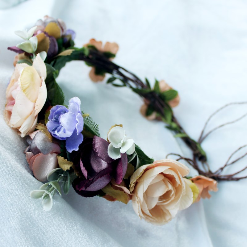 Women Newest Wedding flower crown flower wreath girl   floral headpiece colorful fruit Wreath