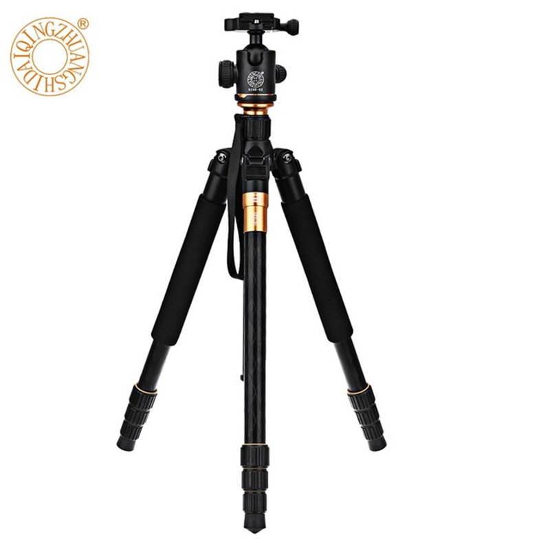 QZSD Q999 Professional Photographic Portable Magnesium Aluminium Alloy Tripod Kit Monopod Stand Ball head For DSLR Camera free shipping qzsd q999 portable tripod