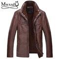 2017 winter men leather warm fur Jacket men's motorcycle leather jacket coat male jaqueta motoqueir high quality  .
