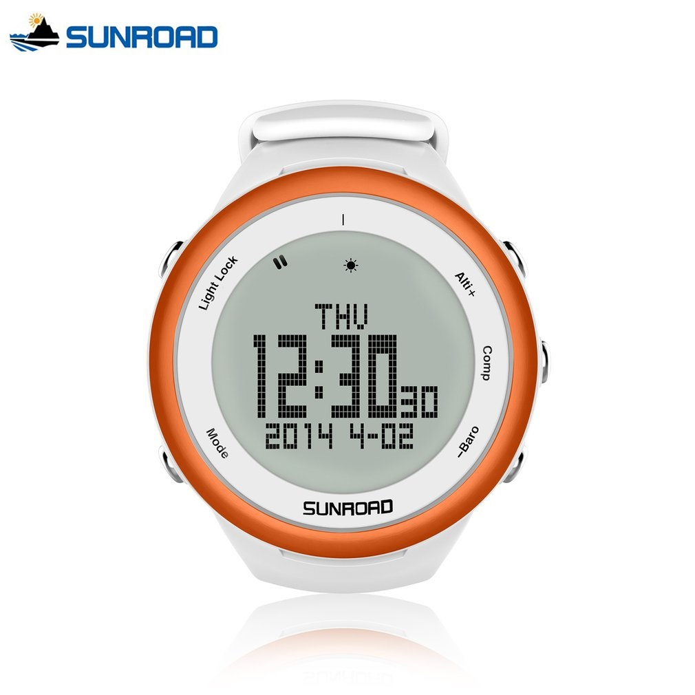 SUNROAD Mens Sports Watch Silicone Digital Watch-5TM Waterproof Outdoor Altimeter Compass Backlight Multifunction Watches Clock цена