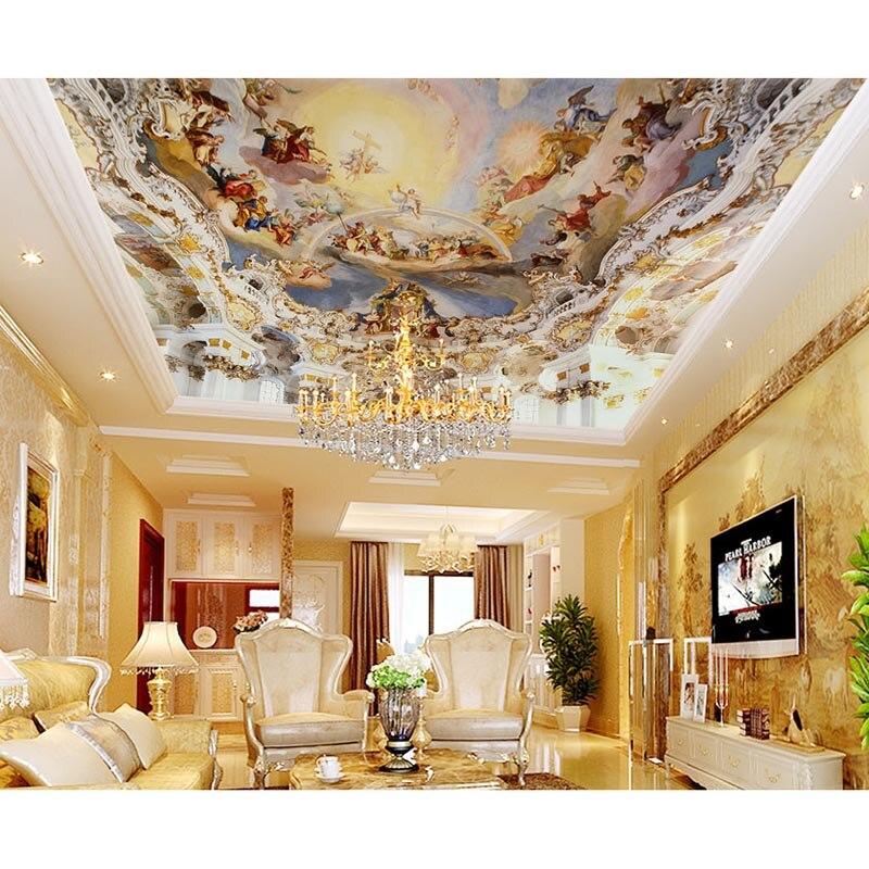 Luxury room decor 3d royal zenith murals ceiling wallpaper for Zenith garden rooms