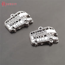 (29621)20PCS 25x17MM Antique Silver Zinc Alloy London Bus Charms Pendants Diy Jewelry Findings Accessories Wholesale(China)