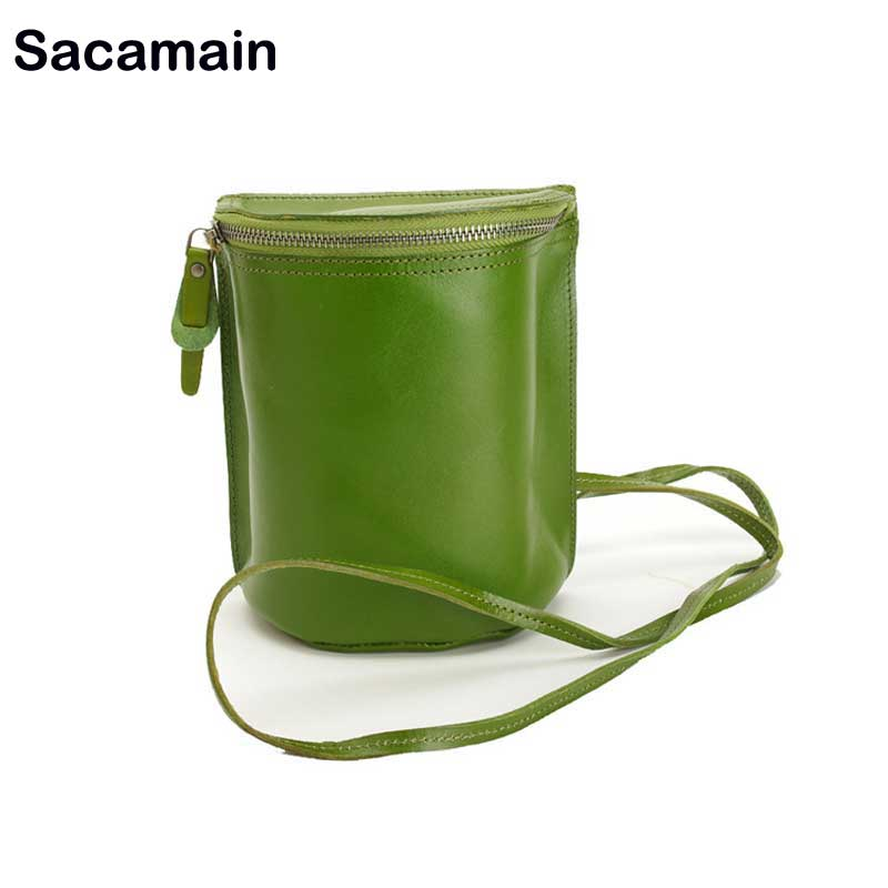 Sacamain Brand Vintage Women Shoulder Bag Crossbody Brand Designer Genuine Leather Ladies High Quality Small Phone BagSacamain Brand Vintage Women Shoulder Bag Crossbody Brand Designer Genuine Leather Ladies High Quality Small Phone Bag
