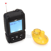 Brand Real Waterproof Fishfinder Monitor 2 In 1 Wireless Sonar Wired Transducer Free Shipping