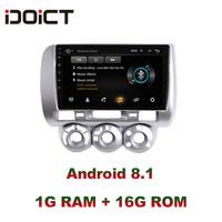 IDOICT Android 8.1 Car DVD Player GPS Navigation Multimedia For Honda Fit Jazz Radio 2004 2005 2006 2007 car stereo