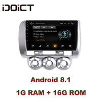 IDOICT Android 8,1 dvd плеер автомобиля gps навигации мультимедиа для Honda Fit радио Джаз 2004 2005 2006 2007 стерео
