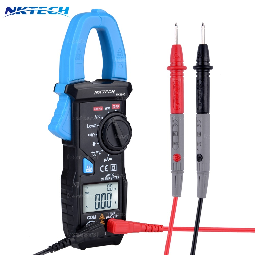NKTECH NK260C VS ACM03 Além Digital Clamp Meter AC/DC Volts Um Cap Freq Temp Res UPG
