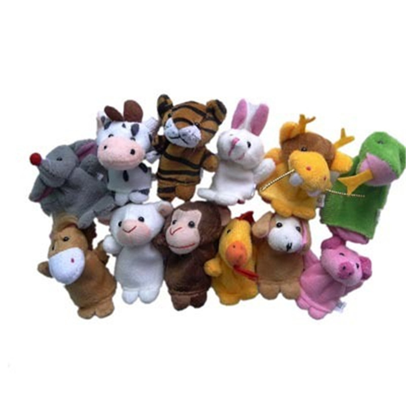 Chinese Zodiac Animals Finger Puppets Plush Toys Bed Time