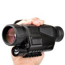 5×40 инфракрасного ночного видения Монокуляр ночного видения инфракрасная цифровая область для охоты телескоп длинный диапазон со встроенной камерой