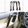 4x For Toyota Prado FJ150 10-2016 Wood Grain Color Door Handle Holder Cover Trim