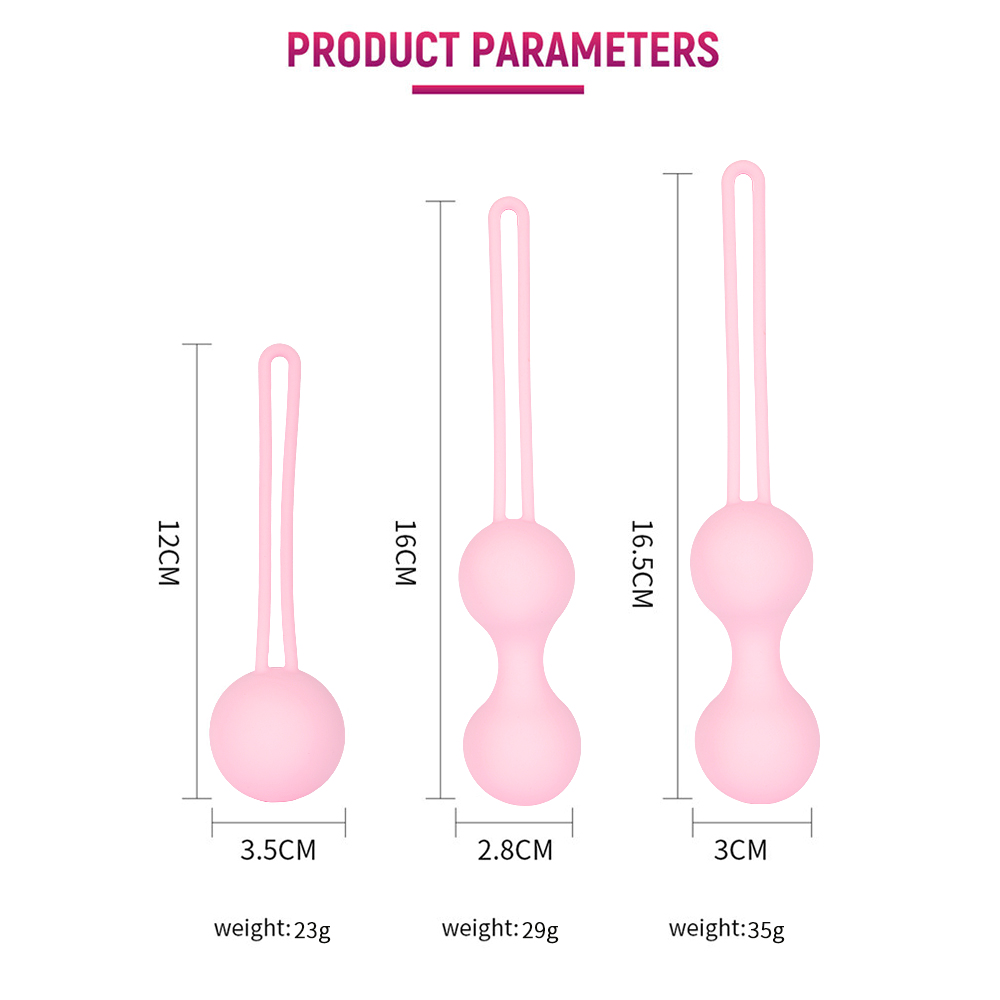 Safe Silicone Smart Kegel Vagina Ball Ben Wa Ball Vagina Tighten Exercise Machine Vaginal Geisha Ball Sex Toy For Women Sex Shop