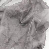 Toptancı yapmak için kumaş örgü kumaş 100% gümüş elyaf radyasyon korumak bebek taşıyıcı cibinlik
