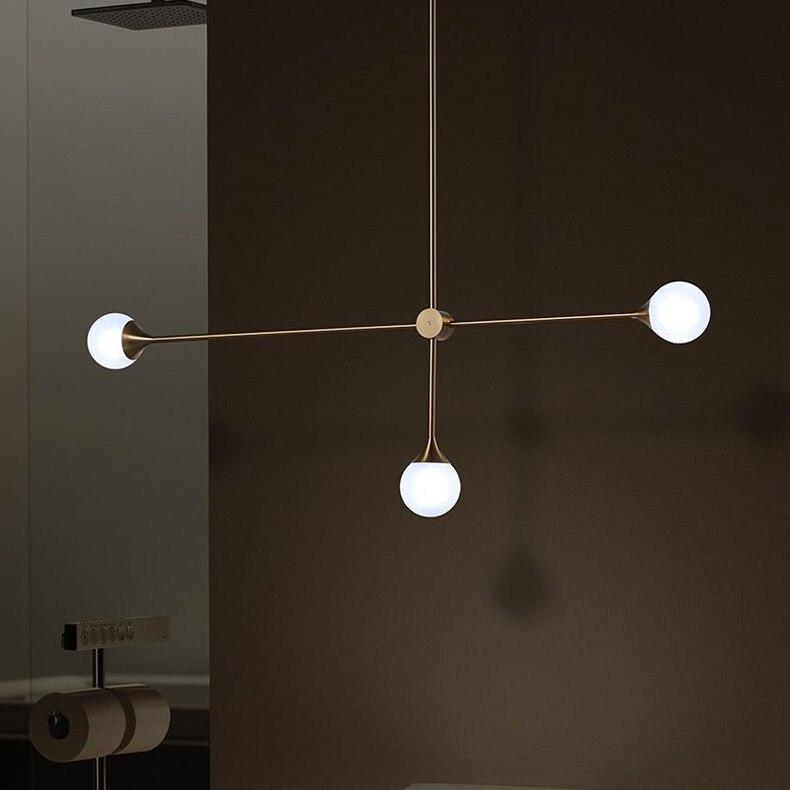 Современная Nordic золото база Стекло шар Bubble подвесные светильники лампы Обеденная Стекло подвесной светильник