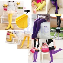 Free shipping Baby Girls Kids Candy Color Leggings Trousers Velvet Pantyhose Underpants