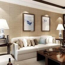 Chinese retro wood grain wallpaper imitation straw Japanese sushi restaurant living room bedroom  hotel tea tatami