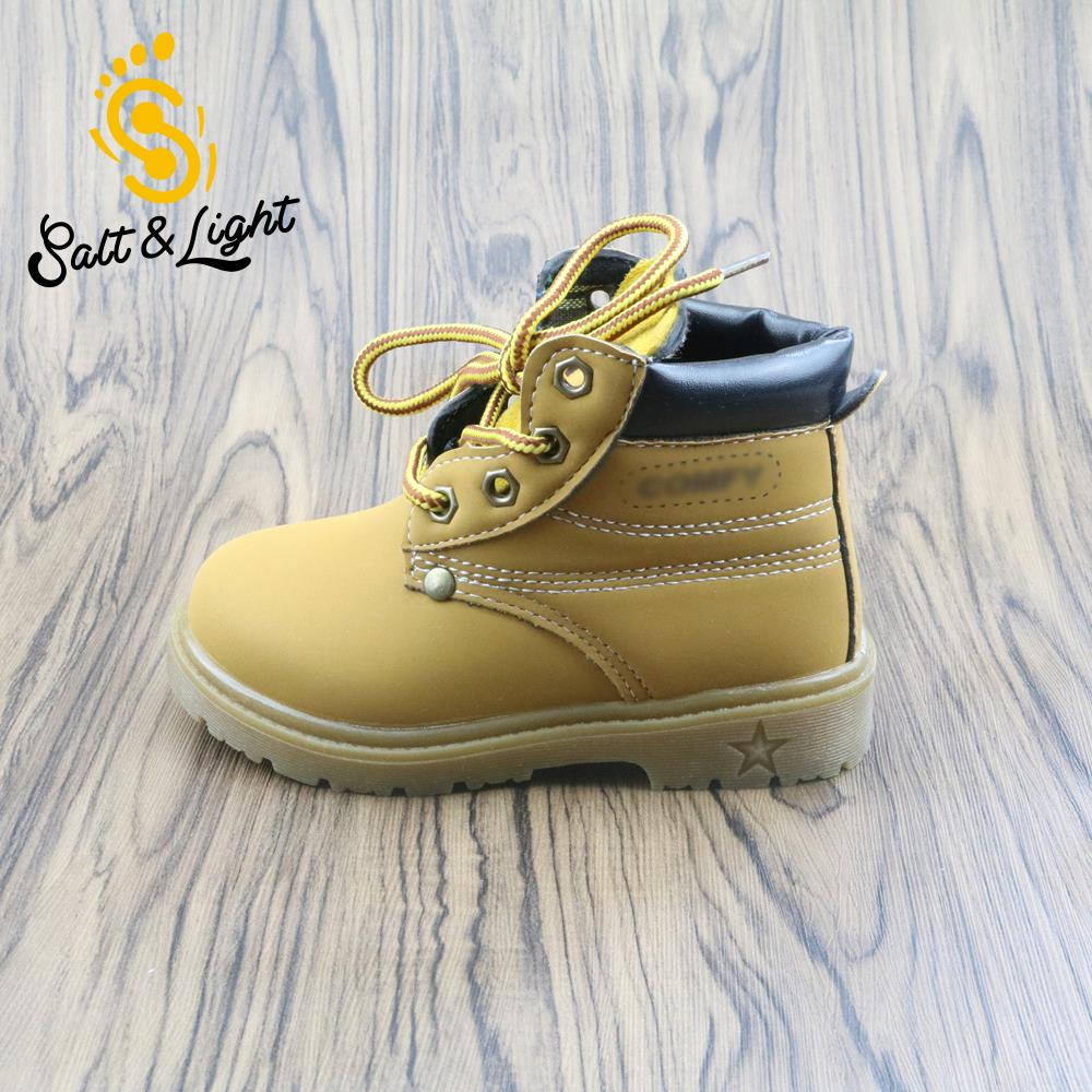 Autumn winter childrens safty quality casual warm cotton shoes for boys girls solid Martin boots kids snow boots size21-30