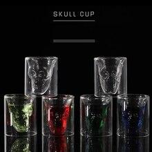все цены на Skull Head Wine Glass Mug Cup Crystal Beer Whiskey Shot Double Glass Cup Vodka Drinking Bar Club Beer Wine Glasses Bottle Cups онлайн