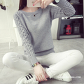 Winter Crochet Casual Women Sweater Pull Black O-Neck Long Sleeve Jumper Knitted Ladies Tops Pullover MF98621