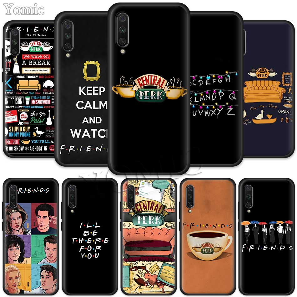 Friends TV Show Series Sitcom Black Case for Xiaomi Mi CC9E CC9 9T 6X 5X Mi 8 A1 A2 Lite Play Poco F1 Silicone Phone Case Cover image