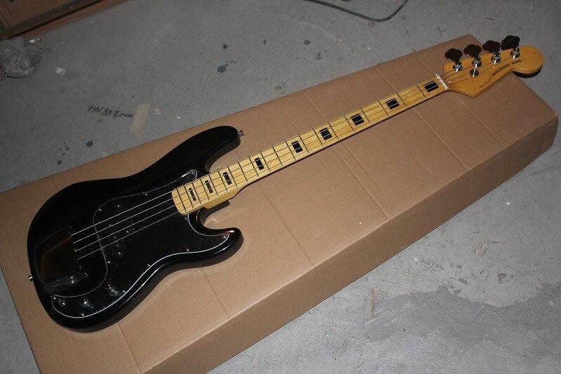 Chaude en gros chaud De Haute Qualité nouveau style Américain Standard Precision 4 cordes noir guitare Basse, Livraison Gratuite! 14-4-1
