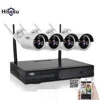 Hiseeu WIFI CCTV System 720P 4CH Wireless NVR IP Camera IR CUT Bullet CCTV Camera Home