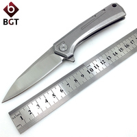 BGT ZT0808 Pocket Folding Knife D2 Steel Blade Ball Bearing Tactical Survival Rescue Knives Outdoor Hunting Camping EDC Tools