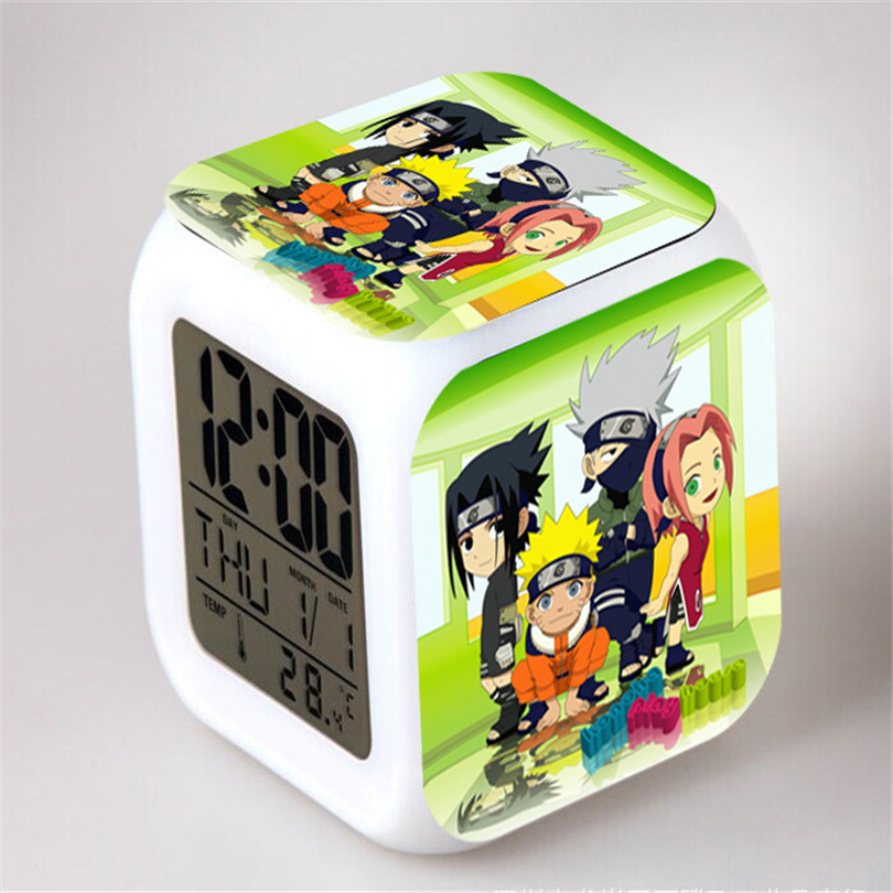 wake up light desk clock naruto catoon led timer cube clock cool alarm clock wake up