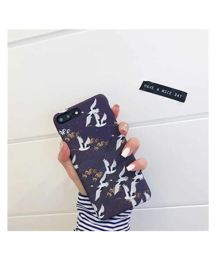 Ultra ince iphone için kılıf 6 7 artı PC sert çin etnik özellikleri kuş telefon iphone için kılıf 6 6s 7 8 artı arka kapakları