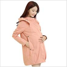 S 4XL 2015 Autumn Winter Maternity Coats Clothing Windbreaker font b Pregnancy b font For Pregnant